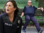 154893, Mariska Hargitay pictured joining a group of dancers, before filming a shoot out scene with Kelli Giddish, Peter Scanavino and Ice T at the Law and Order: SVU set in Central Park. New York, New York - Wednesday July 13, 2016. Photograph: © JP, PacificCoastNews. Los Angeles Office (PCN): +1 310.822.0419 UK Office (Photoshot): +44 (0) 20 7421 6000 sales@pacificcoastnews.com FEE MUST BE AGREED PRIOR TO USAGE