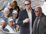 """Famous US actors Samuel L. Jackson and Ryan Reynolds are seen shooting his latest movie """"Hitmans Bodyguard"""". Samuel is seen filming scenes on a speedboat on the canals in Amsterdam on July 12th 2016 in Amsterdam, the Netherlands."""