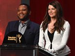 NORTH HOLLYWOOD, CA - JULY 14:  Actors Anthony Anderson and Lauren Graham present the 68th Emmy Awards nominations announcement at the Saban Media Center on July 14, 2016 in North Hollywood, California. The 68th Emmy Awards, including the star-studded Red Carpet preshow, will telecast live from The Microsoft Theater in Los Angeles, Sunday, September 18 (7:00-11:00 p.m. ET/4:00-8:00 p.m. PT) on ABC.  (Photo by Kevin Winter/Getty Images)