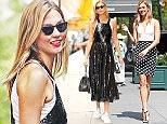 EXCLUSIVE: Karlie Kloss steps out wearing a Black and White polka dot pencil skirt, NYC  Pictured: Karlie Kloss Ref: SPL1317507  130716   EXCLUSIVE Picture by: Splash News  Splash News and Pictures Los Angeles: 310-821-2666 New York: 212-619-2666 London: 870-934-2666 photodesk@splashnews.com