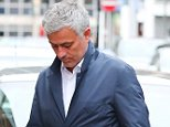 8.7.16...... Man Uniteds new manager Jose Mourinho arrives back at The Lowry Hotel on Friday evening after a full day at The Carrington Training Complex. Jose and his staff then walked into Manchester city centre for a meal.