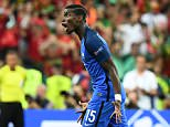 France's midfielder Paul Pogba reacts during the last minutes of the Euro 2016 final football match between France and Portugal at the Stade de France in Saint-Denis, north of Paris, on July 10, 2016. Portugal beat France 1-0 to clinch the Euro 2016. / AFP PHOTO / FRANCK FIFEFRANCK FIFE/AFP/Getty Images
