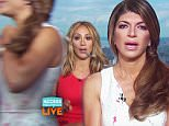 "'RHONJ' Star Teresa Giudice Storms Out Of AHL Interview!\nJuly 14, 2016 9:04 AM PDT\n""The Real Housewives of New Jersey"" stars Teresa Giudice and Melissa Gorga join Access Hollywood Live¿s Kit Hoover and guest co-host Dave Karger to discuss the upcoming season when suddenly Teresa storms out of the interview. Find out the question that set her off! ""The Real Housewives of New Jersey"" airs Sundays 8/7c on Bravo.\n\nRead more at https://www.accesshollywood.com/videos/rhonj-star-teresa-giudice-storms-out-of-ahl-interview/#7Oo06yrlky5LKJhb.99"