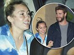 Malibu, CA - Miley Cyrus and Liam Hemsworth are spotted leaving celeb dinner hotspot, Nobu Malibu. The engaged couple looks like they are stronger than ever as they leave arm in arm from the Japanese restaurant. Miley and Liam are all smiles as they mess with the cameras and laugh it up in the car on the way home.\nAKM-GSI      July 15, 2016\nTo License These Photos, Please Contact :\nMaria Buda\n(917) 242-1505\nmbuda@akmgsi.com\nsales@akmgsi.com\nor \nMark Satter\n(317) 691-9592\nmsatter@akmgsi.com\nsales@akmgsi.com\nwww.akmgsi.com