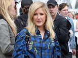 GLASTONBURY, ENGLAND - JUNE 25:  Ellie Goulding attends Day 2 of the Glastonbury Festival 2016 at Worthy Farm, Pilton on June 25, 2016 in Glastonbury, England.  (Photo by Danny Martindale/WireImage)