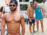 EXCLUSIVE Corrie actor Ryan Thomas in Magaluf with his brother Adam  ©Exclusivepix Media