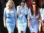 Los Angeles, CA - Khloe Kardashian meets up with momma, Kris Jenner, and sister, Kim Kardashian, to film scenes for the next season of 'KUWTK.' The youngest Kardashian sister sports a monochromatically blue ensemble that highlights her curvaceous shape.\nAKM-GSI      July 15, 2016\nTo License These Photos, Please Contact :\nMaria Buda\n(917) 242-1505\nmbuda@akmgsi.com\nsales@akmgsi.com\nor\nMark Satter\n(317) 691-9592\nmsatter@akmgsi.com\nsales@akmgsi.com\nwww.akmgsi.com