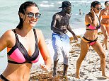Picture Shows: Ludivine Kadri  July 17, 2016\n \n French soccer player Bacary Sagna seen out at the beach with his wife Ludivine Kadri and friends in Miami, Florida. The two enjoyed a dip in the ocean and later Bacary played a little soccer.\n