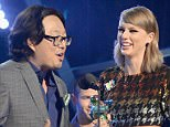 """LOS ANGELES, CA - AUGUST 30:  Recording artist Taylor Swift (R) and director Joseph Kahn accept the Video of the Year award for """"Bad Blood"""" onstage during the 2015 MTV Video Music Awards at Microsoft Theater on August 30, 2015 in Los Angeles, California.  (Photo by Jeff Kravitz/MTV1415/FilmMagic)"""