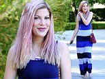 Exlcusive - Burbank, CA - 07/17/2016 - Tori Spelling leaving a doctors office in Burbank.\n-PICTURED: Tori Spelling\n-PHOTO by: Michael Simon/startraksphoto.com\n-MS330523\nEditorial - Rights Managed Image - Please contact www.startraksphoto.com for licensing fee Startraks Photo\nStartraks Photo\nNew York, NY \nFor licensing please call 212-414-9464 or email sales@startraksphoto.com\nImage may not be published in any way that is or might be deemed defamatory, libelous, pornographic, or obscene. Please consult our sales department for any clarification or question you may have\nStartraks Photo reserves the right to pursue unauthorized users of this image. If you violate our intellectual property you may be liable for actual damages, loss of income, and profits you derive from the use of this image, and where appropriate, the cost of collection and/or statutory damages.