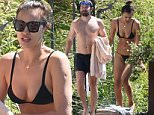Irina Shayk and Bradley Cooper are seen on vacation on July 17, 2016 at Garda Lake, Italy. Photo BEESCOOP.COM exclusive pool