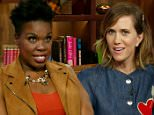 Watch What Happens Live Host Andy Cohen was joined by two of the stars of the new all female film ¿GhostBusters¿ actresses Kristen Wiig and Leslie Jones.