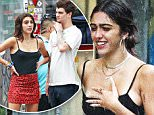 EXCLUSIVE: Madonna's Daughter Lourdes Leon spotted wearing a Red Leopard Print Mini skirt whilst hanging out with a mystery male in SoHo, NYC - PART \n\nPictured: Lourdes Maria Ciccone Leon\nRef: SPL1318934  180716   EXCLUSIVE\nPicture by: Splash News\n\nSplash News and Pictures\nLos Angeles: 310-821-2666\nNew York: 212-619-2666\nLondon: 870-934-2666\nphotodesk@splashnews.com\n