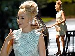 Michelle Keegan pictured with a beehive hairstyle while filming Tina and Bobby the ITV drama in which she plays the wife of football legend Bobby Moore.\\nPIC BY MARK CAMPBELL/MCPIX 07778 526193