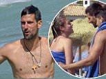 Tennis player Novak Djokovic on holiday with his wife Jelena in Marbella, Spain. Novak Djokovic, Jelena Djokovic 20 July 2016. Please byline: G Tres/Vantagenews.com