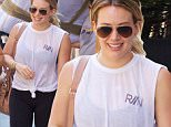 Hilary Duff walks to the gym in midtown Manhattan with some friends\n\nPictured: Hilary Duff\nRef: SPL1321333  190716  \nPicture by:  Splash News\n\nSplash News and Pictures\nLos Angeles: 310-821-2666\nNew York: 212-619-2666\nLondon: 870-934-2666\nphotodesk@splashnews.com\n
