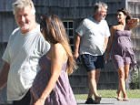 EXCLUSIVE TO INF.\nJuly 19, 2016: A scruffy-looking Alec Baldwin and pregnant Hilaria Baldwin seen leaving an office building in East Hampton, NY.\nMandatory Credit: Matt Agudo/INFphoto.com Ref.: infusny-251