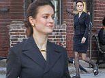 \nEXCLUSIVE: Brie Larson looks demure in Black whilst out in Montreal Canada. The Academy Award winning actress keep things cool and she strolled around the set of The Glass Castle. The 26 year old American actress is joining stars Naomi Watts and Woody Harrelson in the film adaptation of Jeannette Walls' memoir of the same name.\nPlease byline:TheImageDirect.com\n*EXCLUSIVE PLEASE EMAIL sales@theimagedirect.com FOR FEES BEFORE USE