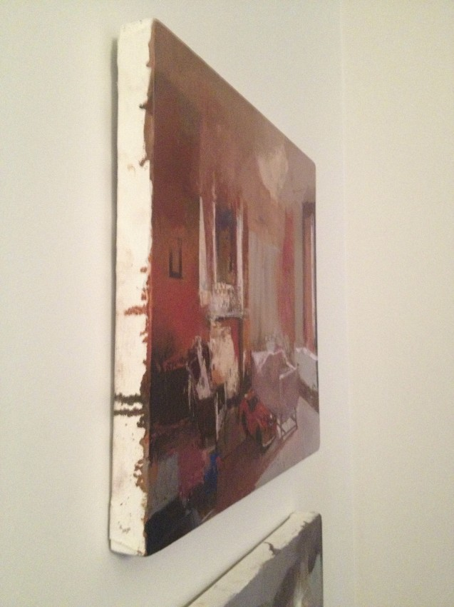 A side view of a Tim Kent painting in the home of LaVon and David Kellner