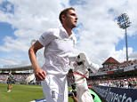 England bowler Stuart Broad leaves the pitch for a break after taking eight Australian wickets on the first day of the fourth Ashes cricket Test match between England and Australia at Trent Bridge in Nottingham, England on August 6, 2015. AFP PHOTO / LINDSEY PARNABY   --   RESTRICTED TO EDITORIAL USE. NO ASSOCIATION WITH DIRECT COMPETITOR OF SPONSOR, PARTNER, OR SUPPLIER OF THE ECBLINDSEY PARNABY/AFP/Getty Images