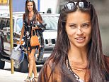 EXCLUSIVE: Adriana Lima spotted makeup-free while all smiling arriving home after a photoshoot in New York City, the model was carrying a damaged mini cooler\n\nPictured: Adriana Lima\nRef: SPL1321554  190716   EXCLUSIVE\nPicture by: Felipe Ramales / Splash News\n\nSplash News and Pictures\nLos Angeles: 310-821-2666\nNew York: 212-619-2666\nLondon: 870-934-2666\nphotodesk@splashnews.com\n