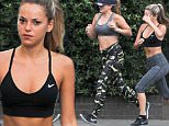 EXCLUSIVE ALL ROUND PICTURES 200 ONLINE USE OR STANDARD RATES PRINT Made In Chelseas Lauren Hutton and Natalie Joel pictured out jogging in Primrose Hill, They stop to speak to a male friend before continuing there jog. BYLINE MUST READ: KP PICTURES