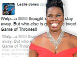 Picture Shows: Leslie Jones  July 09, 2016.. Celebrities attend the 'Ghostbusters' Los Angeles premiere in Los Angeles, California... .. Non Exclusive.. UK RIGHTS ONLY (News International & Trinity Mirror Titles Only For Newspaper / No Associated Press Or Express Group EVER For Papers & Web).. .. Pictures by : FameFlynet UK © 2016.. Tel : +44 (0)20 3551 5049.. Email : info@fameflynet.uk.com