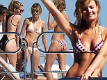 Doutzen Kroes is the latest model to join fellow Victoria Secrets models Alessandra Ambrosia, Elsa Hosk and Joan Smalls plus Lionel Ritchie's daughter Sophia Ritchie on a mega yacht in the South Of France.
