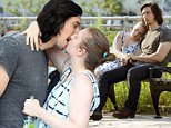 """NEW YORK, NY - JULY 21:  Adam Driver and Lena Dunham seen on the set of """"Girls"""" on Adam Driver's final day on July 21, 2016 in New York City.  (Photo by Steve Sands/GC Images)"""