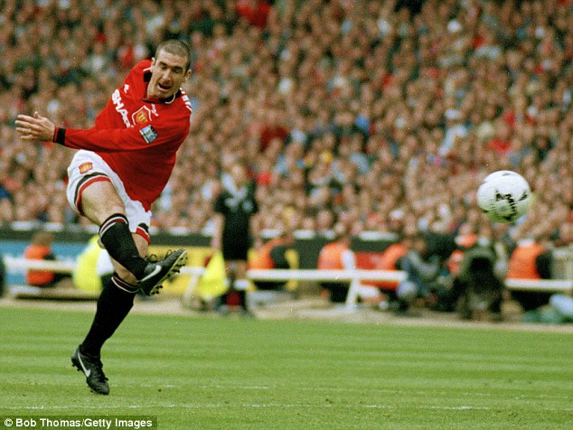 Cantona starred for United when he returned and scored the FA Cup final winner against Liverpool in 1996