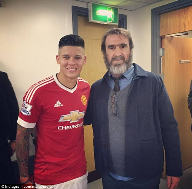 'The King' also posed for a photo with Argentina defender Rojo after the game