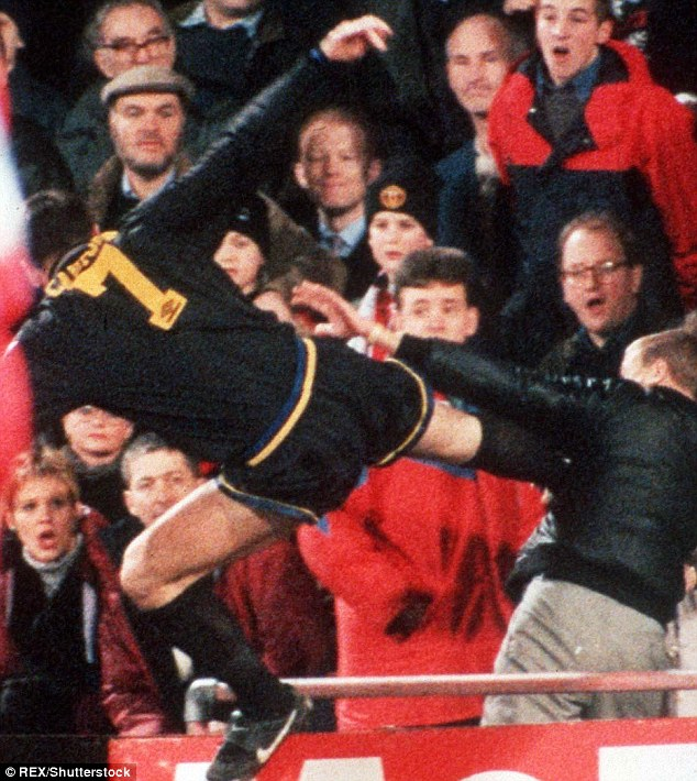 Cantona almost went to prison after his 'king-fu kick' in 1995 but his sentence was overturned on appeal