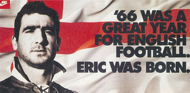 Cantona featured in this Nike advert which playfully took on England's 1966 World Cup victory