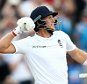 MANCHESTER, ENGLAND - JULY 22:  Joe Root of England celebrates his century during day one of the 2nd Investec Test match between England and Pakistan at Old Trafford on July 22, 2016 in Manchester, England.  (Photo by Jan Kruger/Getty Images)