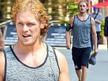 20.July.2016 - New York, NY  - USA\n***AVAILABLE FOR UK AND GERMANY SALE ONLY ***\nSam Heughan is spotted after an intense work out taking a stroll on the streets of the Big Apple. The Scottish actor looks fit and toned as he shows off his buff arms in a tank top.\nBYLINE MUST READ: AKM-GSI-XPOSURE\n***UK CLIENTS - PICTURES CONTAINING CHILDREN PLEASE PIXELATE FACE PRIOR TO PUBLICATION ***\n*UK CLIENTS MUST CALL PRIOR TO TV OR ONLINE USAGE PLEASE TELEPHONE 0208 344 2007*
