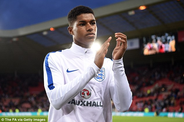 Rashford looked incredibly calm playing in his first senior game for England and handled the occasion well