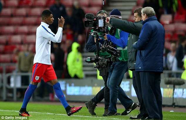 All eyes were on Rashford after his manager Hodgson had said everyone would be wanting to him on Friday