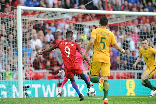 His goal made him the youngest player to score during an England debut and he took his goal very well