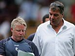 BURNLEY, UNITED KINGDOM - JULY 22:  Sam Allardyce (right) manager of Bolton and coach Sammy Lee (left) during the friendly match between Burnley and Bolton Wanderers on July 22, 2006 at Turf Moor, in Burnley, England.  (Photo by Michael Steele/Getty Images)