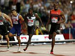 Britain Athletics - 2016 London Anniversary Games - Queen Elizabeth Olympic Park, Stratford, London - 22/7/16  Jamaica's Usain Bolt crosses the line to win the Men's 200m  Action Images via Reuters / John Sibley  Livepic
