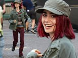 """New York, NY - Lily Collins is currently on location in NYC for her latest film """"Okja."""" The film is currently being shot near Wall Street and it looks like Lily is having a blast!\nAKM-GSI      July 24, 2016\nTo License These Photos, Please Contact :\nMaria Buda\n(917) 242-1505\nmbuda@akmgsi.com\nsales@akmgsi.com\nor\nMark Satter\n(317) 691-9592\nmsatter@akmgsi.com\nsales@akmgsi.com\nwww.akmgsi.com"""