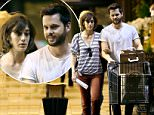 EXCLUSIVE: Lizzy Caplan was spotted wearing an engagement ring while grocery shopping with fiance Tom Riley in Los Angeles, CA.\n\nPictured: Lizzy Caplan, Tom Riley\nRef: SPL1322711  220716   EXCLUSIVE\nPicture by: Sharpshooter Images / Splash\n\nSplash News and Pictures\nLos Angeles: 310-821-2666\nNew York: 212-619-2666\nLondon: 870-934-2666\nphotodesk@splashnews.com\n