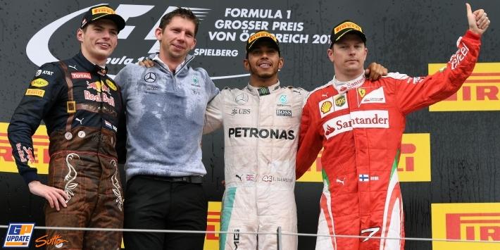 Hamilton wins after last-lap Rosberg clash