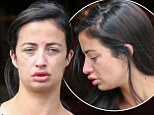 EXCLUSIVE TO INF.    £500 MINIMUM FEE APPLIES. July 10, 2016: Chantelle Houghton is seen at a cafe near her home after getting lip fillers in London, UK.  Chantelle's lips seems to be noticeably fuller as she struggled to drink her coffee.  Mandatory Credit: INFphoto.com  Ref: infuklo-226