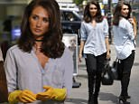 Picture Shows: Megan McKenna  July 25, 2016    * Min Web / Online Fee £200 For Set *    The cast of 'The Only Way is Essex' are spotted filming at Lockie's Kitchen in Essex, England, UK.    The usually tan, glam couple Pete Wicks and Megan McKenna are seen cleaning up in Lockies Kitchen whilst James 'Lockie' Lock looks on.    Previously, Pete was seen arriving with a tall, mystery brunette. Chloe Sims also arrived accompanied by her daughter.    * Min Web / Online Fee £200 For Set *    Exclusive All Rounder  WORLDWIDE RIGHTS  Pictures by : FameFlynet UK © 2016  Tel : +44 (0)20 3551 5049  Email : info@fameflynet.uk.com