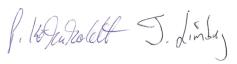 Unterschrift-Aufsichtsrat und Vorstand