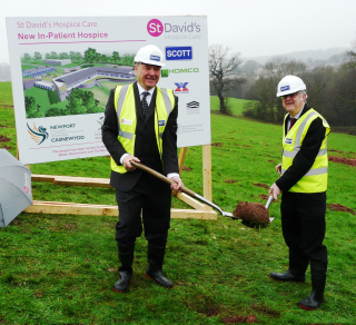 Watch live progress of work on £5m St David's hospice site in Newport