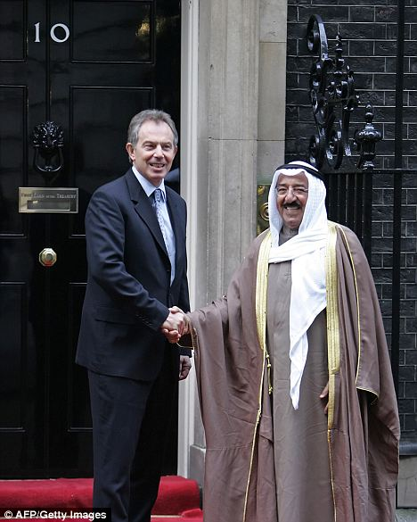 Cultivated friendship: Tony Blair with the Emir of Kuwait in 2007