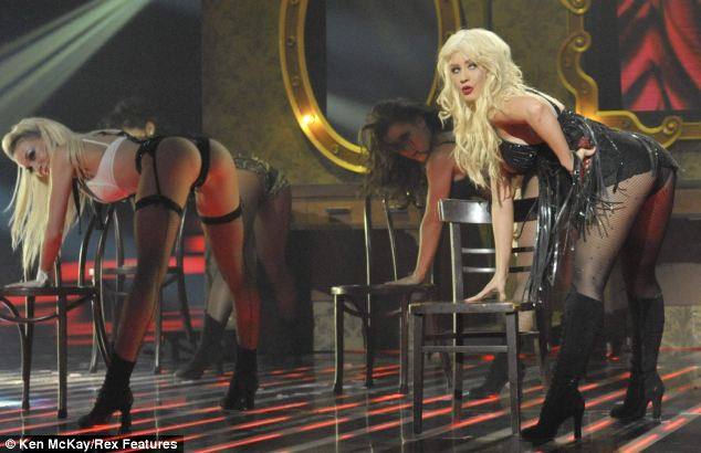 Christina Aguilera and her dancers perform an explicit routine. Ofcom has demanded an inquiry