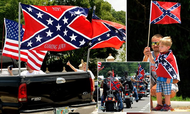 Confederate flag supporters in Florida create 8 mile convoy in protest